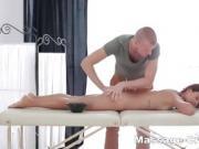 Tattooed skinny taste cum after massage