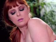 Horny client redhead Penny scissor fucks Adrias wet pussy