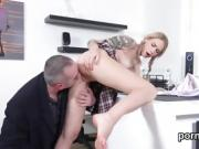 Erotic schoolgirl was seduced and pounded by her older lectur