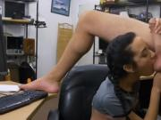 Pretty Titty Brunette Sucking Dick In The Back Of Pawn Shop