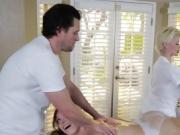 Horny Babe Giselle Palmer Blows Huge Cock Of Masseur