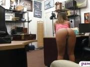 Busty woman with glasses gets boned hard by pawn dude