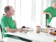 Brad is cock feeding Kagney Linn Karter deep throat