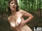 POV outdoor fucking with a granny