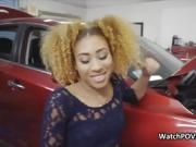 Ebony gf cheats in repair shop