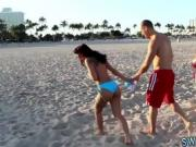 Big black booty anal sex and teen girl feet fetish Beach Bait