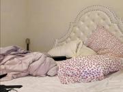 Brunette cam girl suck dildo and masturbate live webcam show