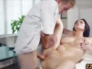 Stunning Emma Leigh fucked after massage
