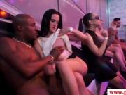 European party babe spitroasted in kinky orgy