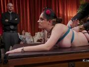 Lesbian slaves rough fucked in bondage