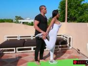 Yoga class outdoors with Moriah Mills - More at BestClipXXX