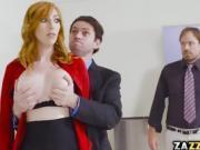 Lauren glimpse of her co workers cock