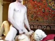 Blonde Busty Mature Woman Is Fucked In Bald Cunt