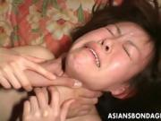 Asian Girl Has Rough Sex With Light Choking