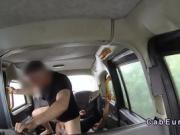 Big tits ebony fucks for a free cab ride