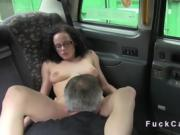 Fake taxi driver makes porno film in cab in public