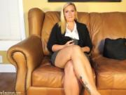 Blonde Milf Shows Her Pussy And Fingers Her Tight Holes