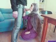 Sweet horny chick Zoe rubbing meaty hard pole