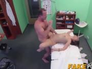 Fake doctor with big dick fucking hot patient in her cunt