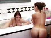 Milf Mindi seduce by teen Carmen for a lesbian fuck