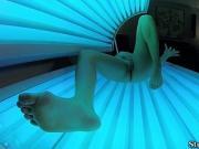 Pov stepsis rubs in sun bed