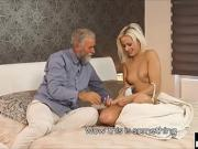Cheating Girlfriend Fucks Her Boyfriends Elderly Dad