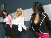 Horny Chicks Try Out The Gloryhole For Fun