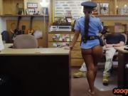 Busty police officer gets nailed by nasty pawn keeper