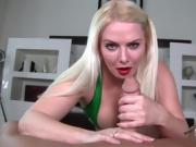 Hot Blonde Edging Handjob