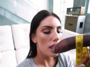 Cute Tailor August Ames Measures Clients Big Cock
