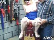 Horny woman extreme bondage