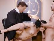 Hot Lawyer Kristina Rose Gets Spit Roasted After Trial
