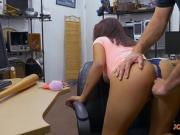 Kinky lady gets screwed at the pawnshop