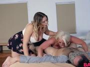 Blair Williams and Alura Jenson riding large meaty dick