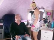GERMAN MILF Hairdresse Fuck Client at Home working Session