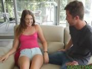 Elena gets turned on when she accidently touches her bro