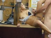 Nasty babe gets screwed by pawn keeper