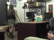 Brunette rockstar sells guitar and fucks