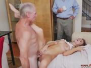 Old man cums in pussy Molly Earns Her Keep