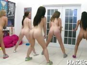 Lucky man satisfies gals
