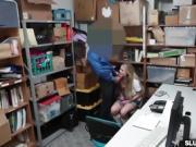 LP Officer banging the shoplifter Alyssa Cole sideways