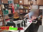Naughty thief banged by horny guy