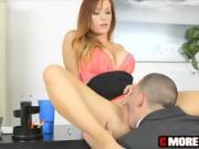 Huge boob MILF boss Dani Jansen