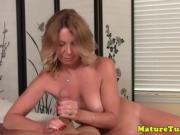 Cougarmama pov wanking dick with enthusiasm in pov