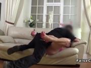 Busty chubby amateur anal fucks fake cop
