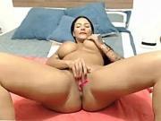 Big Boobs MILF fingering her wet pussy