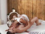Lola Myluv lesbian hot massage