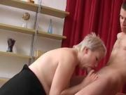 Milf Lathers On The Cream T Shave Her Mans Junk