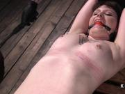 Red skinned slave shocked and fingered