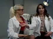 Two Hot Ladies Have Some Fun With Gags And Pussy